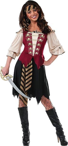 Amazon.com: Rubie s Disfraz elegante de la mujer pirata ...