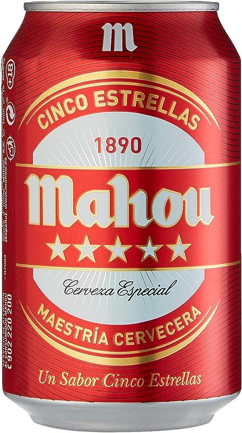 Mahou Cerveza - Paquete de 24 x 330 ml - Total: 7920 ml: Amazon.es: Alimentación y bebidas