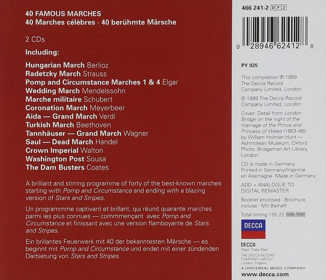 40 Famous Marches: Amazon.co.uk: Music