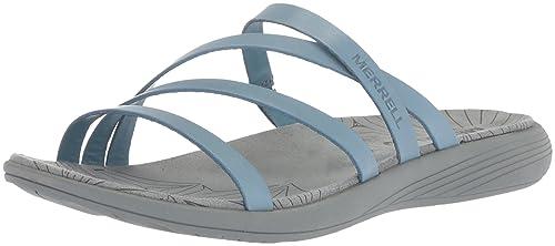 3ce8c1fff380 Merrell Women s Duskair Seaway Slide LTR Flat Sandals  Amazon.ca ...