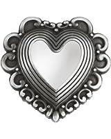 VERI Schließe Gürtel Herz Gürtelschnalle Buckle 3D zu Tracht Dirndl Trachtengürtel Wechselgürtelschnalle one size cm : )
