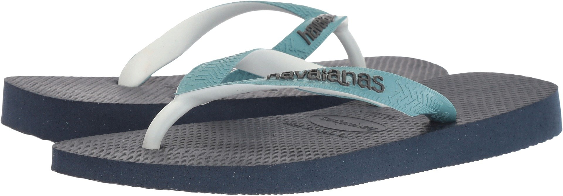 Havaianas Women's Flip-Flop Sandals, Top Mix ,Navy Blue/Mineral Blue,37/38 BR (7-8 M US)