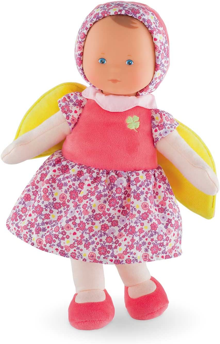 Corolle mon doudou Fairy Floral Bloom Toy Baby Doll, Pink