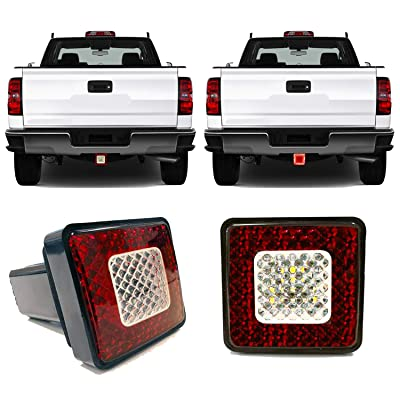 """Roane Designs 3"""" LED Tow Hitch Cover Light - fits 2"""" inch Receiver Hitch, Driving, Brake, Reverse Trailer Hitch Light: Automotive"""