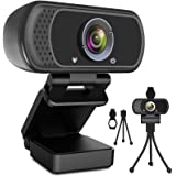 Webcam HD 1080p Web Camera, USB PC Computer Webcam with Microphone, Laptop Desktop Full HD Camera Video Webcam 110…