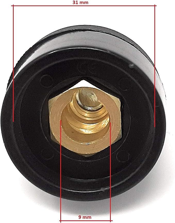 + Conector rapido base hembra 10-25mm para cable soldadura DKZ10-25 o DKJ10-25 200A 2 unidades ELCAN Conector rapido aereo macho 10-25mm para cable soldadura DKZ10-25 o DKJ10-25 200A 2 unidades