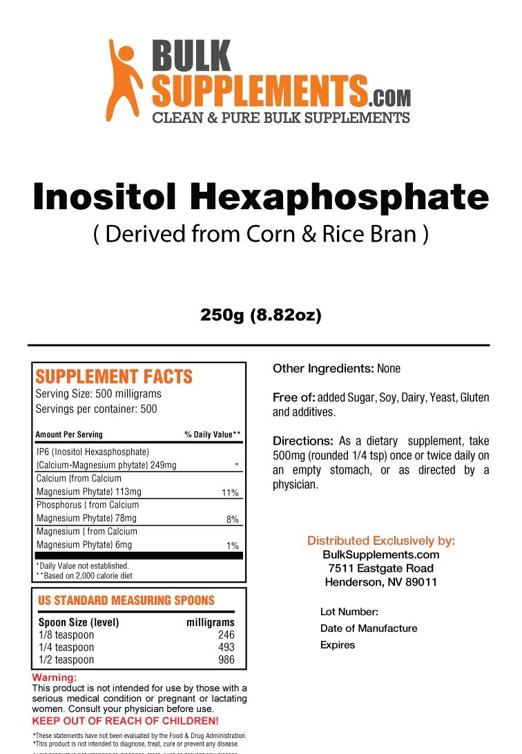 BulkSupplements Inositol Hexaphosphate Powder (250 Grams) by BulkSupplements