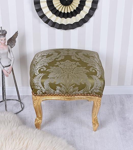 Hocker Prunkhocker im antiken Stil Fusshocker Schemel goldfarben stool