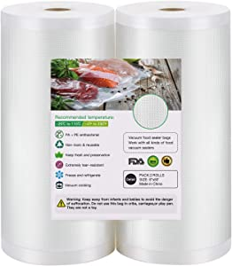 BoxLegend 2 Rolls 8''x50' Vacuum Sealer Bags, Commercial Grade Food Saver Bags. BPA Free, Heavy Duty, Great for vac Storage, Meal Prep or Sous Vide