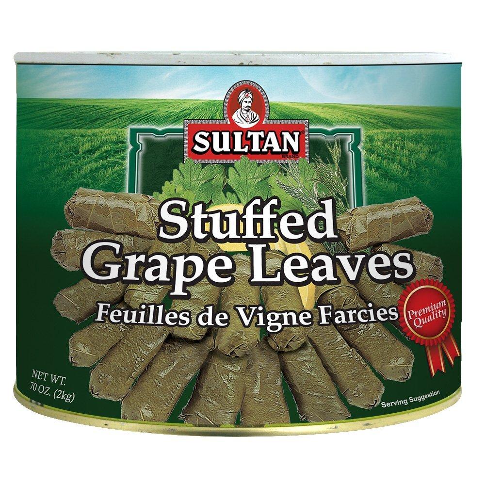 Sultan Vegetarian Stuffed Grape Leaves, 2 KG by Sultan
