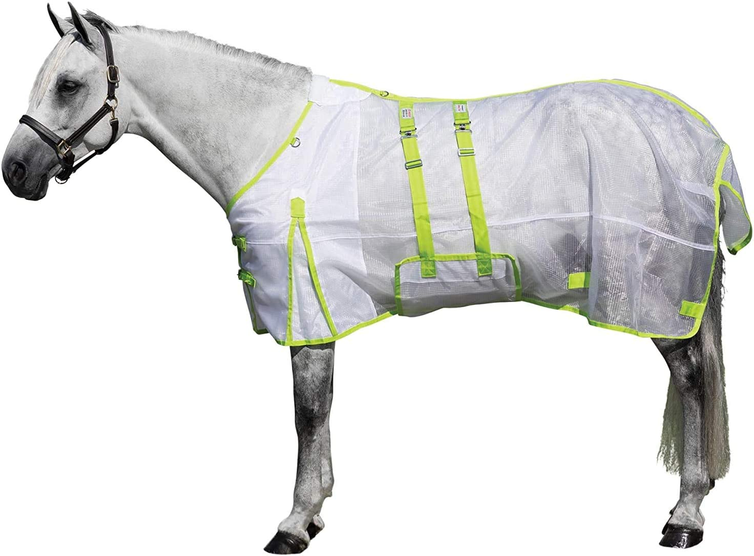 Dura-Tech Ripstop Nylon Mesh Horse Fly Sheet Various Sizes /& Colors Ideal for Turnout Bellyband Closure Stay Cool in The Sun Double Front Buckle Chest Design