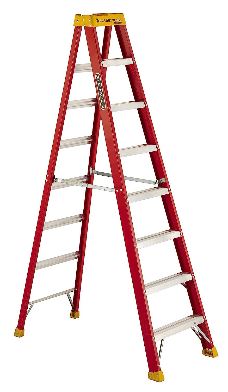 Louisville Ladder L-3016-08 300-Pound Duty Rating Fiberglass Stepladder, 8-Feet