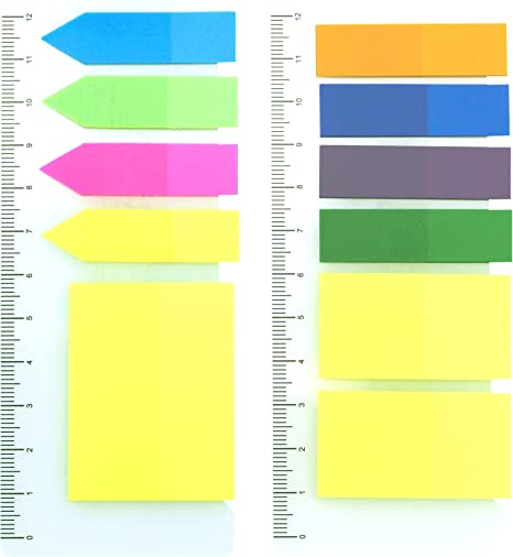 200 Colour Fluro Adhesive Sticky Repositionable Note Marker Index Bookmark Tab