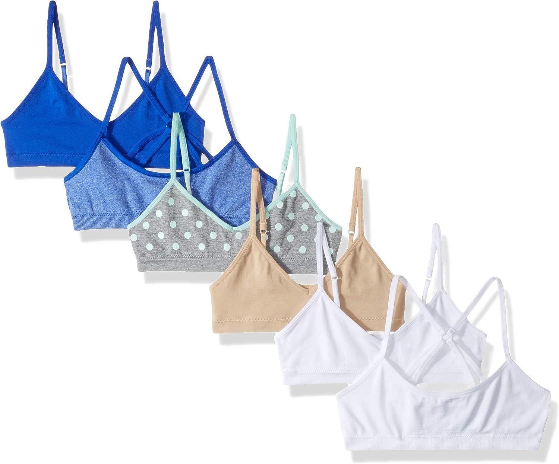 Hanes Girls Seamless Pullover Bras Variety 6-Pack Training Bra