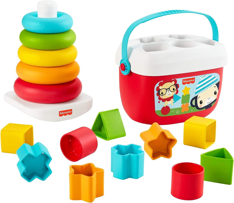 Fisher-Price Bloques Infantiles y Pirámide balanceante (Mattel GRF11)