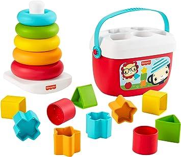 Fisher-Price Bloques Infantiles y Pirámide balanceante (Mattel GRF11): Amazon.es: Juguetes y juegos