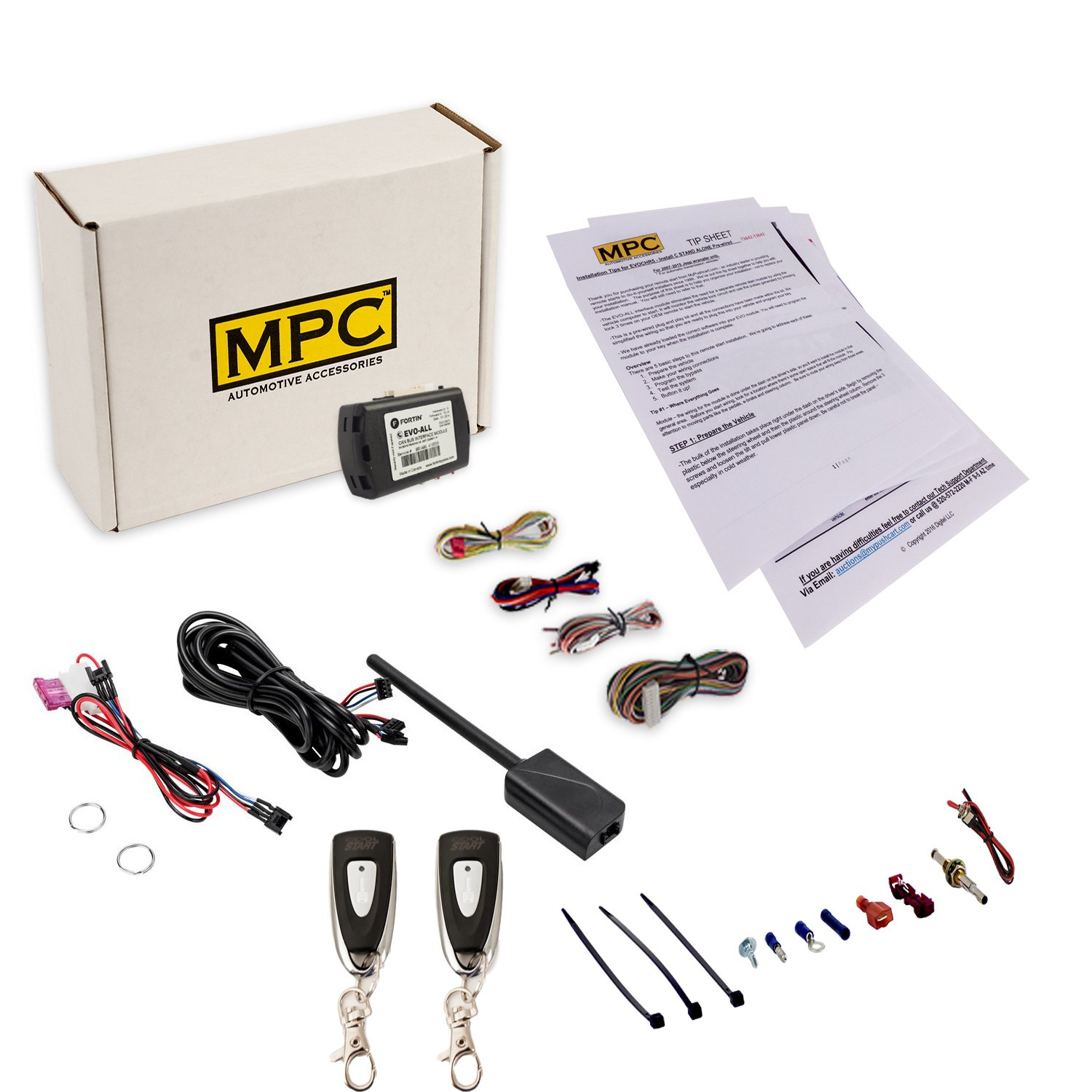 Mpc Complete 1 Button Extended Range Remote Start Kit Addon Fits Pushtostart Nissan Infiniti Vehicles W For 2007 2011 Toyota Camry Hybrid Firmware Preloaded Automotive