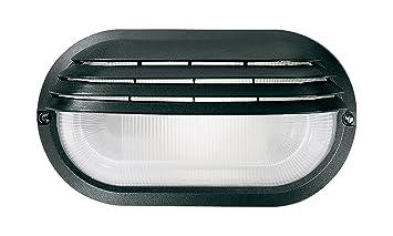 Plafoniera Da Esterno Palpebra : Kippen 4205 plafoniera ovale con palpebra nera: amazon.it: fai da te