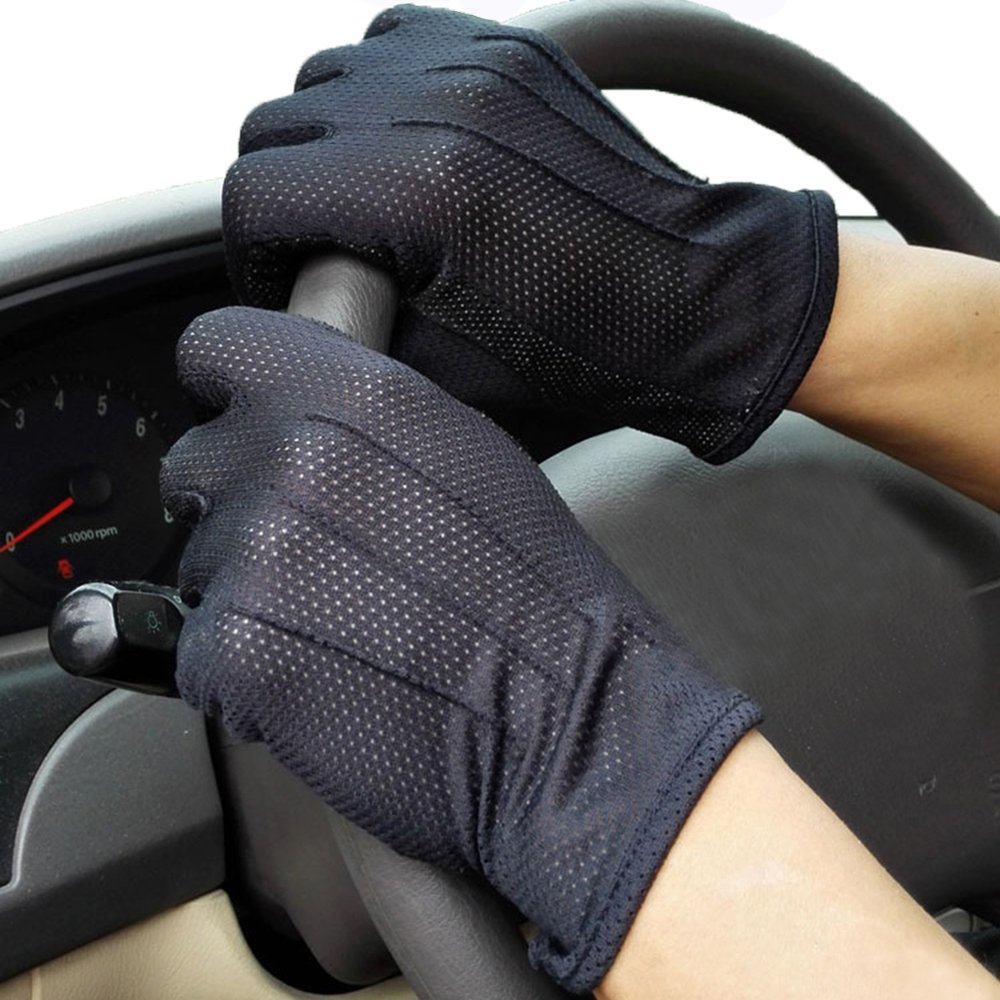 ITODA Men Driving Gloves Grip Non-slip Anti-UV Breathable Wicking Cooling Sunscreen Sun UV Protection Women Skin Sport Cover