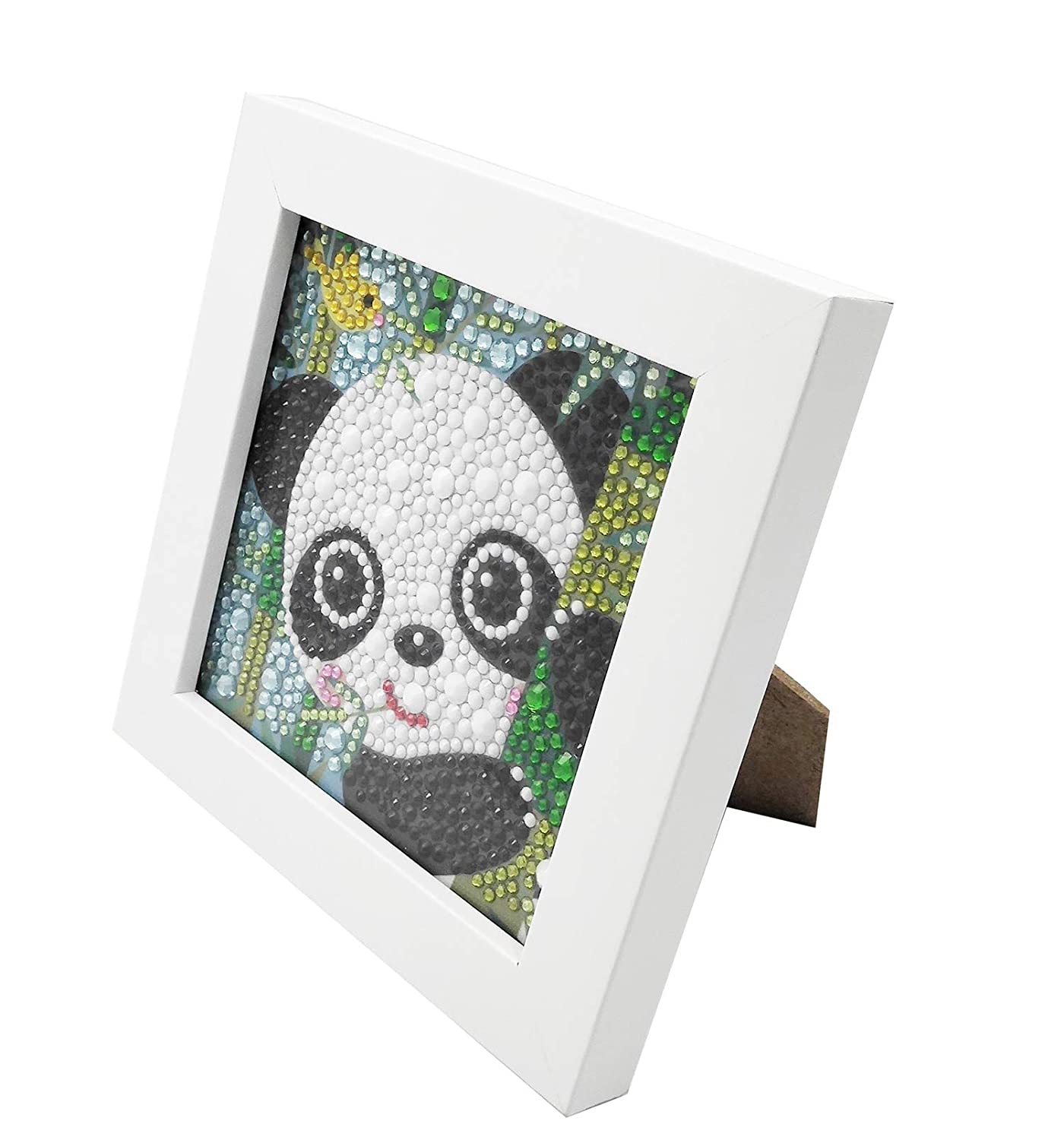ParNarZar Small and Easy DIY 5d Diamond Painting Kits Mosaic Making with White Frame for Kids Little Turtle 6X6inches