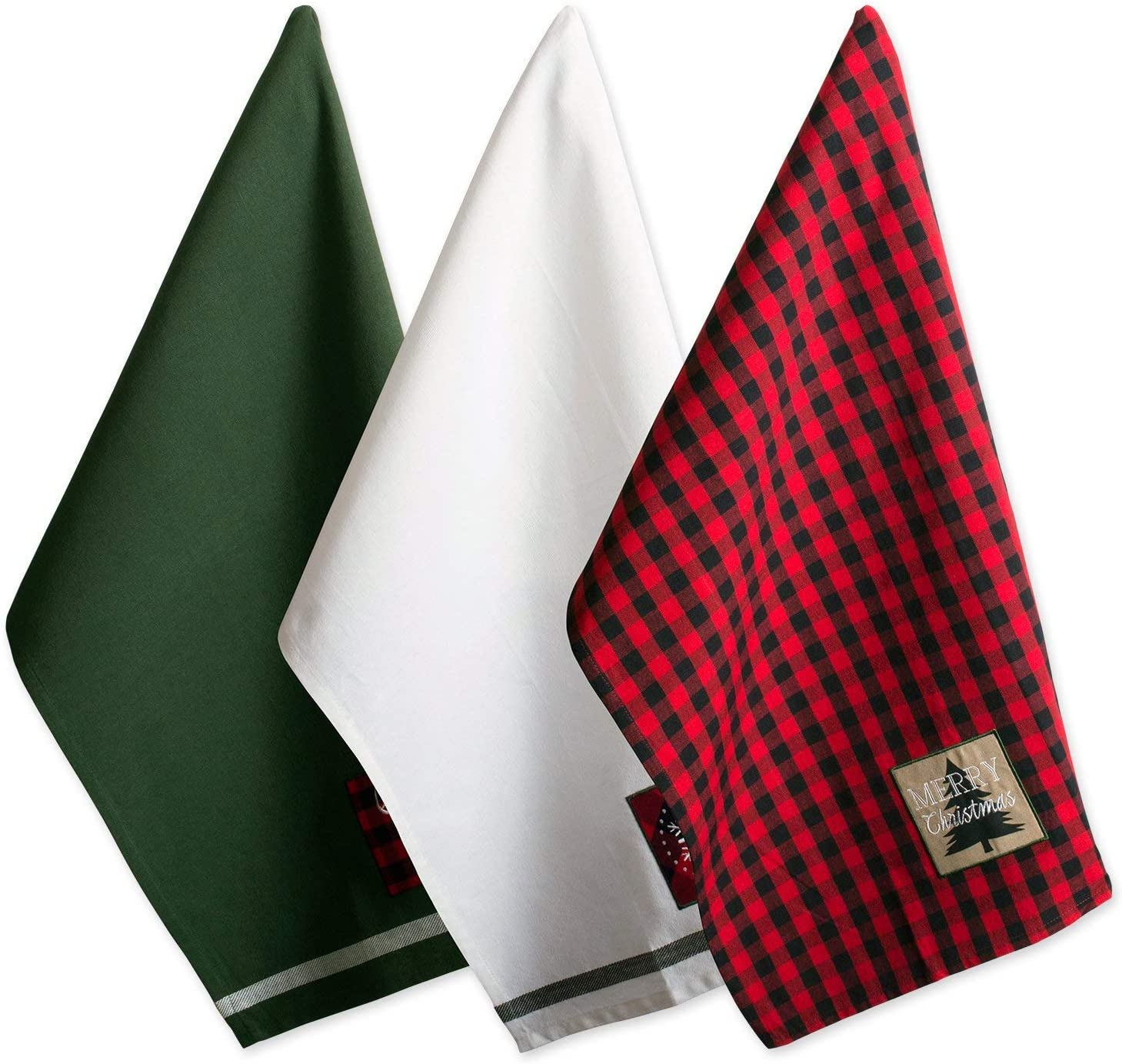 18 x 28 3 Pack DII Cotton Christmas Holiday Decorative Oversized Dish Kitchen Towels