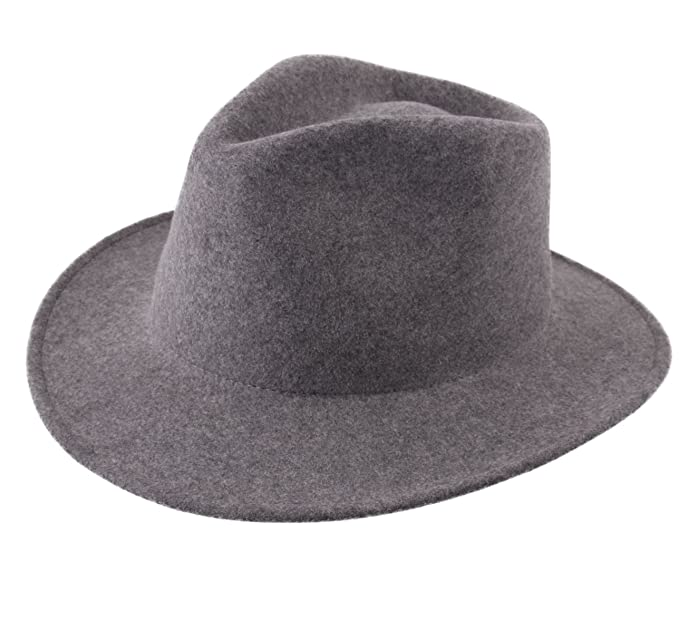 34d29f7c42e15 Classic Italy Fedora Hat Wool Felt Men Nude Traveller Teardrop:  Amazon.co.uk: Clothing