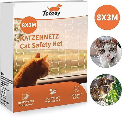 Toozey cat net red de protección de gato para balcón y ventana, red de balcón de