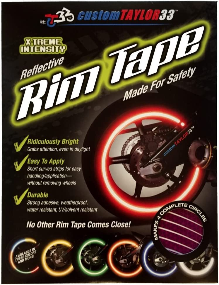 customTAYLOR33 Special Edition Purple High Intensity Grade Reflective Safety Rim Tapes 10 Rim Size