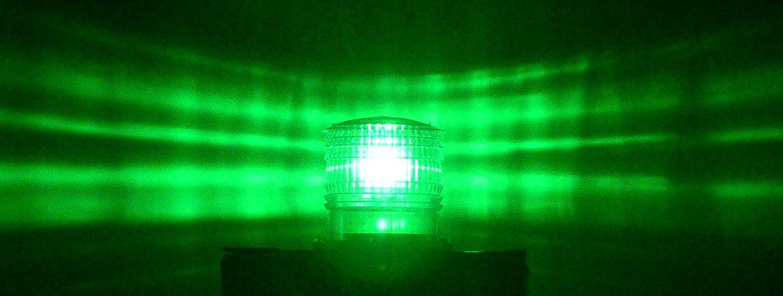 S6LS 2NM IP67 BLUE STEADY-ON SOLAR LED Marine Dock Barge Safety Beacon Light