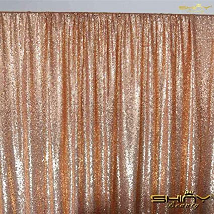cc988476 Image Unavailable. Image not available for. Color: ShinyBeauty Sequin  Backdrop 10X10 Rose Gold ...