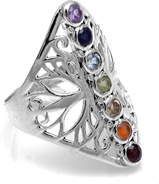 Heilung Chakra 925 Sterlingsilber Ring Schmuck CP116