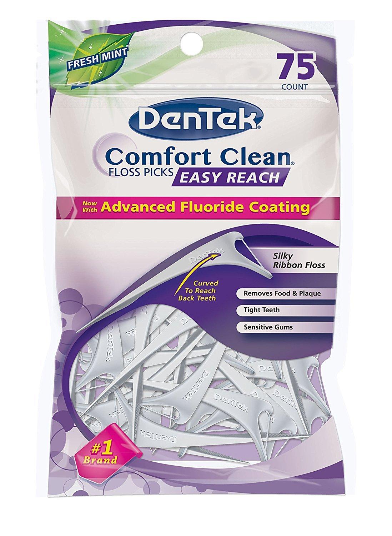 DenTek Easy Reach Floss Picks 75 Each (Pack of 3) by DenTek
