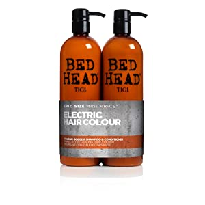 BED HEAD by TIGI Colour Goddess Tween Duo Oil Infused Shampoo & Conditioner for Brunette Hair - 750 ml (Pack of 2)