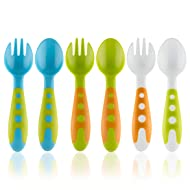 Toddler Utensils Baby Spoons & Baby Forks Set with Baby Utensils CASE | Toddler Fork & Toddler Spoon Silverware Cutlery Set | Baby Spoon and Baby Fork Set