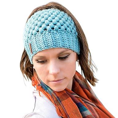 JDYW Bonnet Queue De Cheval Bonnet Femme Fait Main Messy Bun Chapeau de  Bonnet d\u0027
