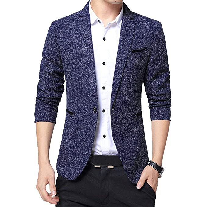 HX fashion Chaqueta De Vestir Slim Fit Leisure Blazer para ...