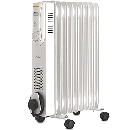 d89eed36fda VonHaus Oil Filled Radiator 2KW 9 Fin – Portable Electric Heater – 3 Power  Settings