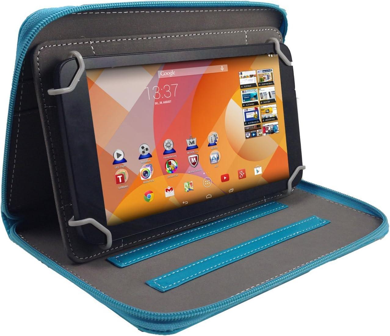 7 pulgadas Tablet Cover/libro caso seguro con cremallera para ...