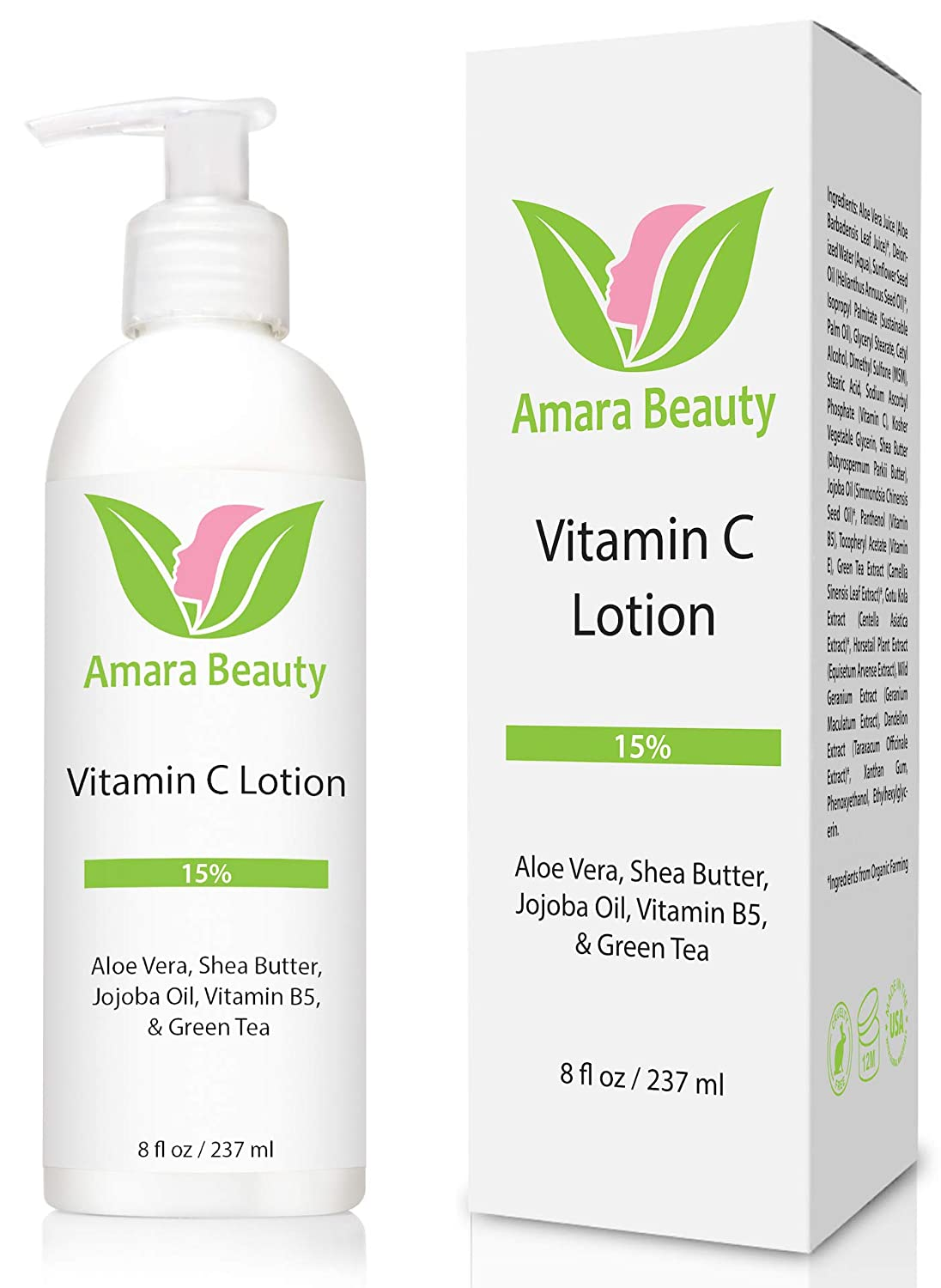 Vitamin C Face & Body Lotion 15% - with Shea Butter & Jojoba Oil
