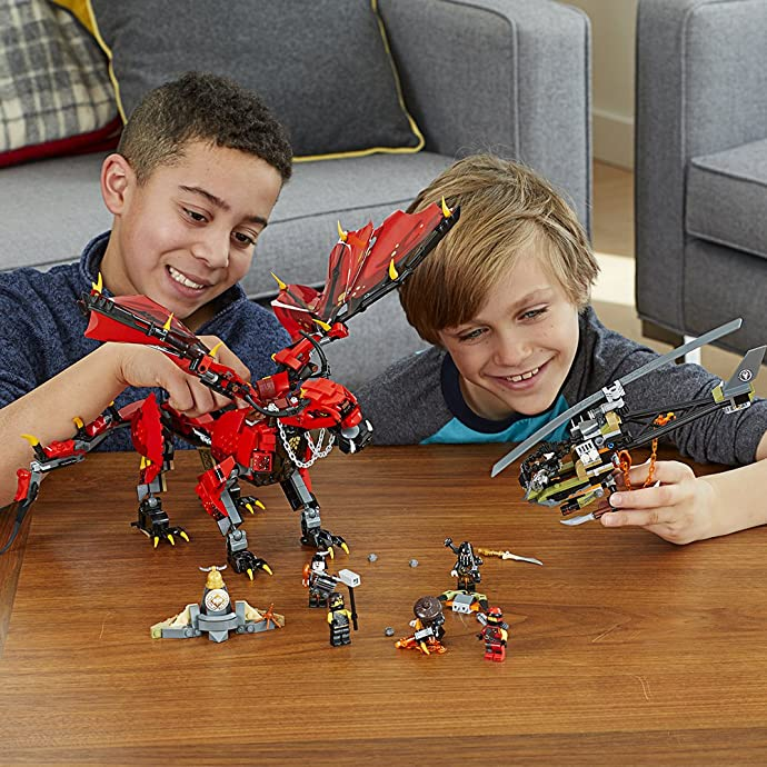 LEGO 乐高 NINJAGO 幻影忍者系列 70653 烈焰谍影神龙 积木玩具 5折$34.99史低 海淘转运到手约¥331