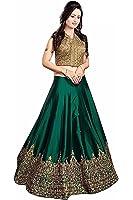 ethnic vila green tapeta silk semi stichhed lehenga choli(ethnicvila_green_freesize)