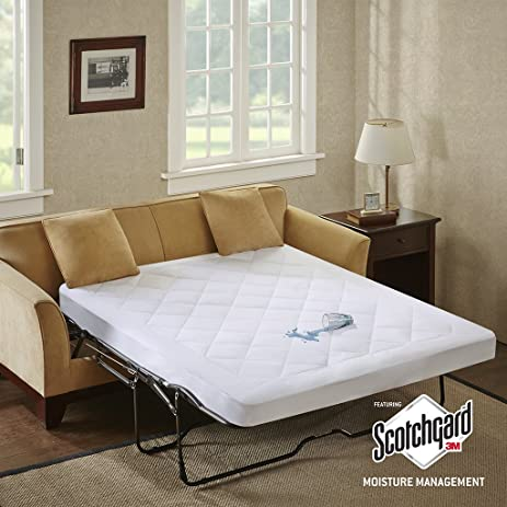 Sleep Philosophy Holden Water Resistant Sofa Bed Mattress Pad 60x72 Inch 3M  Scotchgard Moisture