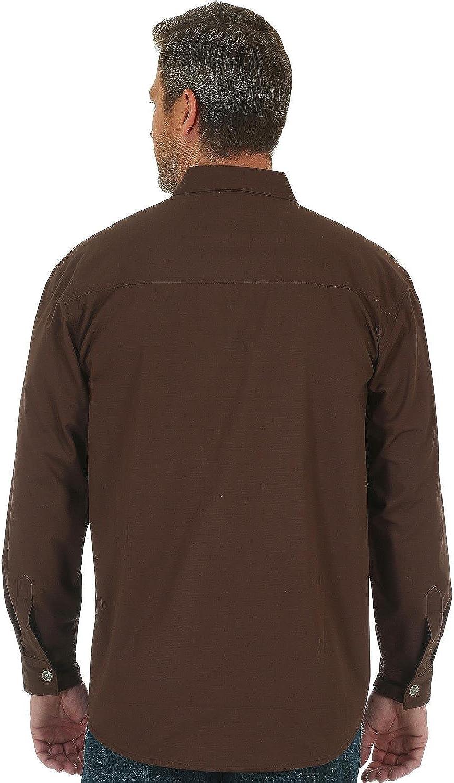 Wrangler Hombre 3W526OB Manga Larga Camisa de trabajo con botones - Marrón - 2X Alto: Amazon.es: Ropa y accesorios
