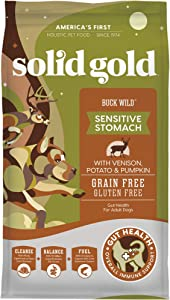 Solid Gold - Buck Wild - Real Natural Venison, Potato and Pumpkin - Grain-Free Holistic Dry Dog Food with Superfoods
