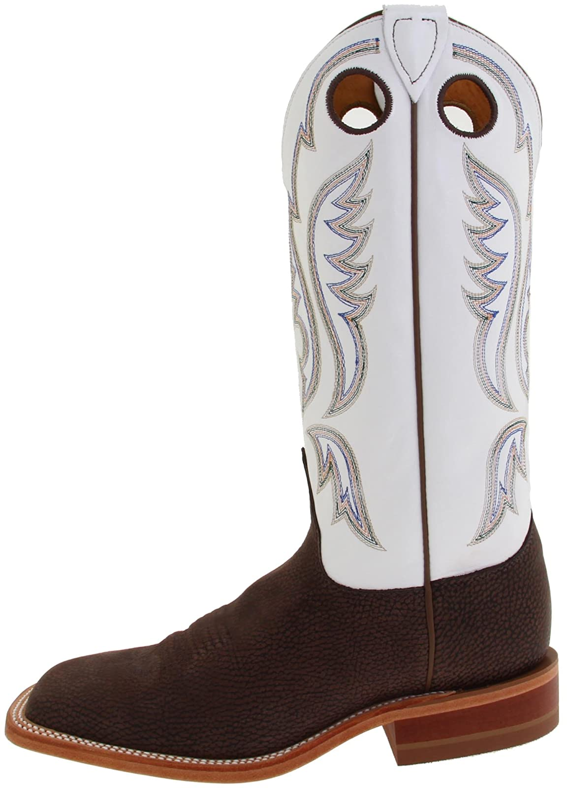 Justin Boots Men's U.S.A. Chocolate Bisonte/White Classic - 5