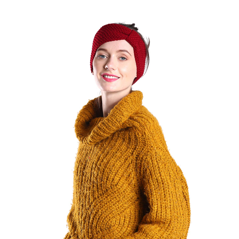 JOVVKO Fleece Lined Winter Knit Headbands for Women Head wrap Ear Warmer