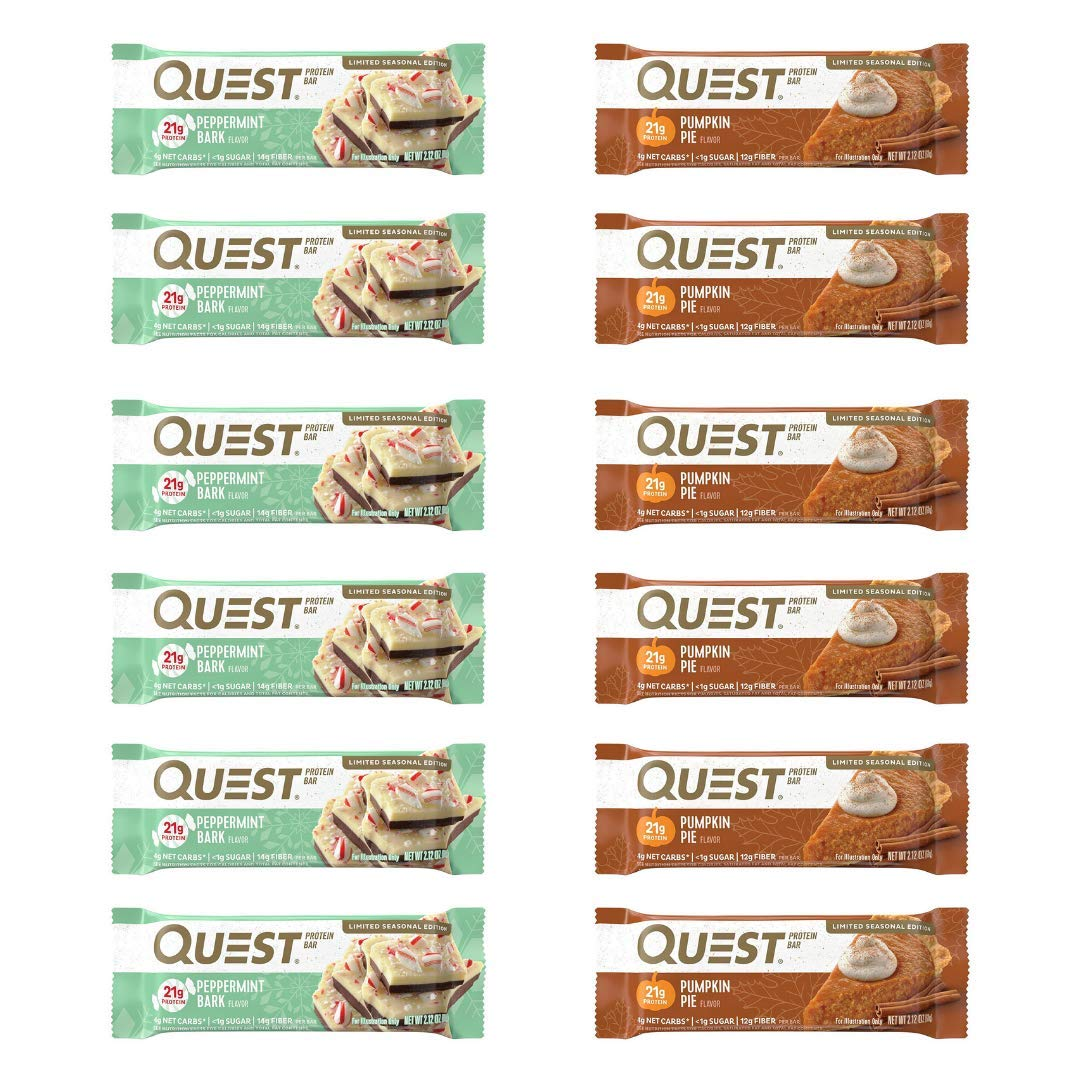 Quest Nutrition Protein Bar (Seasonal Bar Variety, 12 Count) by Quest Nutrition
