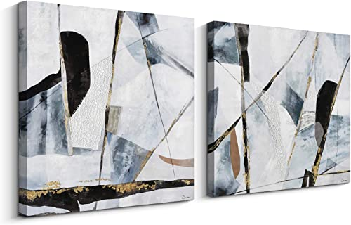 Pi Art Orignal Design Abstract Canvas Wall Art – The Beauty of Fragmentation – 3D Material Contemporary Wall Decor Ready to Hang