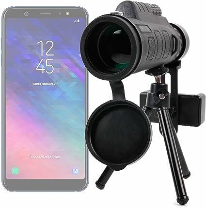 DURAGADGET Monóculo, Zoom, Objetivo, Lente, telescopio para Smartphone Samsung Galaxy A6. ¡Trípode + Funda + Adaptador + Gamuza + Correa + brújula incluidos!: Amazon.es: Electrónica
