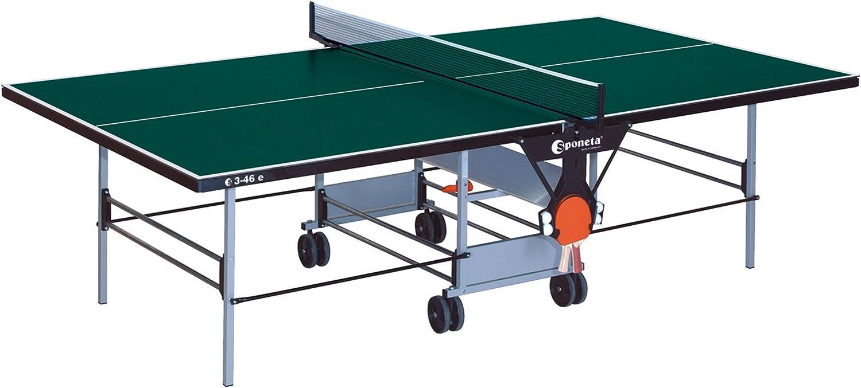 Mesa de ping pong: Sportline Sponeta reproducción 3-46E para exteriores de color verde
